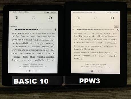 SO SÁNH ĐÈN NỀN BASIC 10 VÀ PAPERWHITE 3