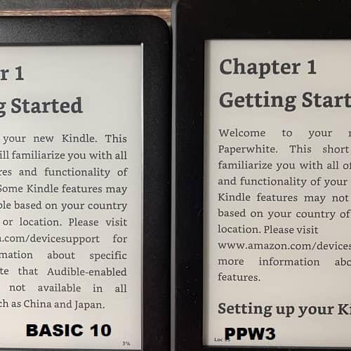 SO SÁNH KINDLE BASIC 10 VÀ KINDLE PAPERWHITE 3